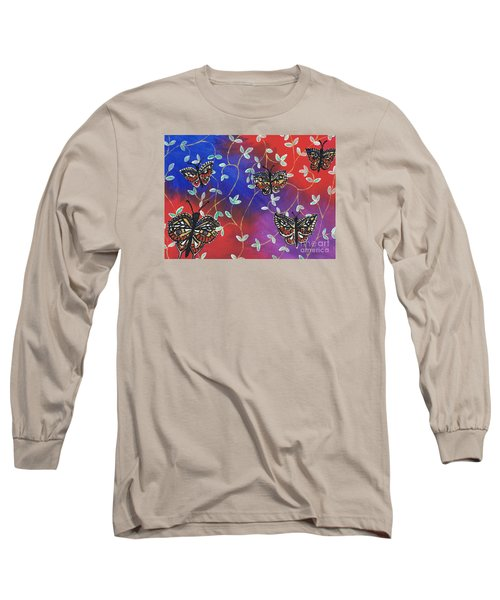 Butterfly Family Tree Long Sleeve T-Shirt