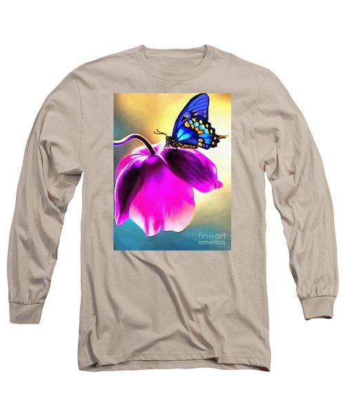 Butterfly Floral Long Sleeve T-Shirt