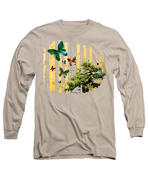 Butterfly Garden Long Sleeve T-Shirt by Jennifer Muller