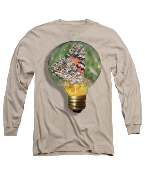 Butterfly In A Bulb II Long Sleeve T-Shirt by Shane Bechler