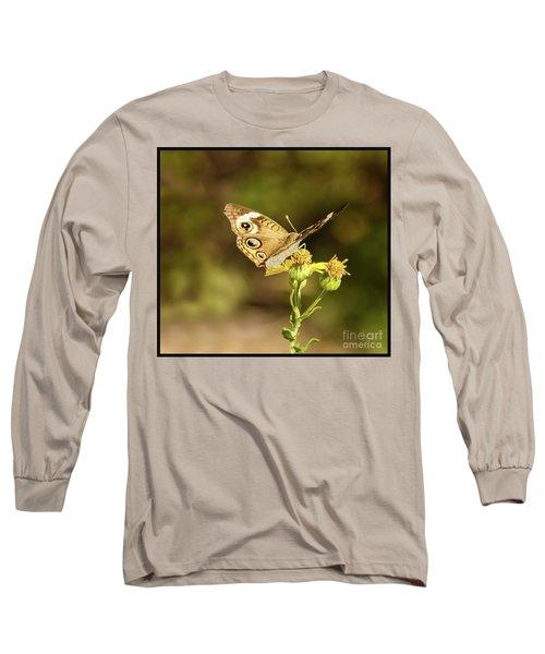 Butterfly In Bokeh Long Sleeve T-Shirt by Steven Parker
