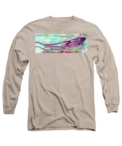 Butterfly Mind - Large Colorful Pastel Abstract Art Painting Long Sleeve T-Shirt