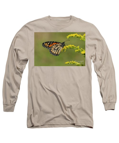 Butterfly On Flowers Long Sleeve T-Shirt