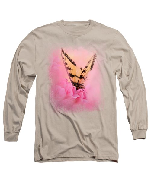Butterfly On The Azaleas Long Sleeve T-Shirt by Jai Johnson