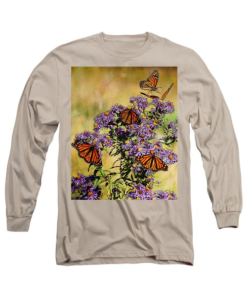 Butterfly Party Long Sleeve T-Shirt by Diane E Berry