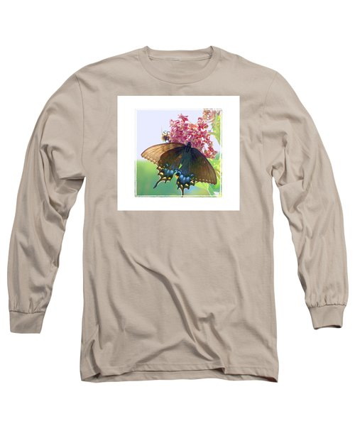 Long Sleeve T-Shirt featuring the photograph Butterfly Summer 3 by Shirley Moravec