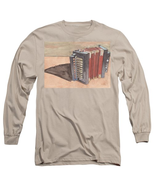Button Accordion Long Sleeve T-Shirt