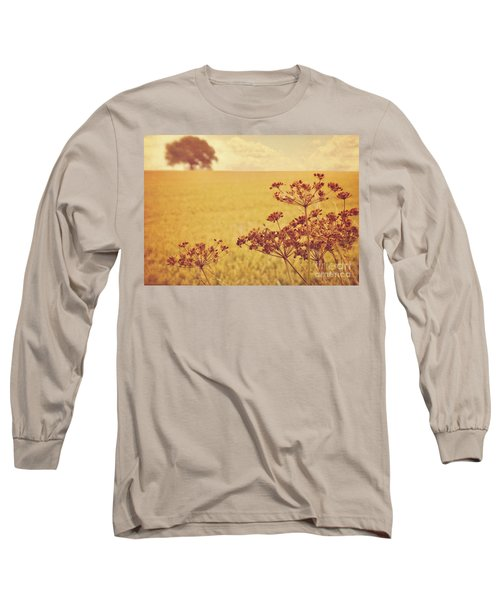 Long Sleeve T-Shirt featuring the photograph By The Side Of The Wheat Field by Lyn Randle