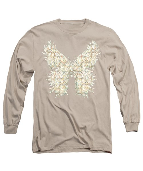 Cabbage Crackle White Long Sleeve T-Shirt