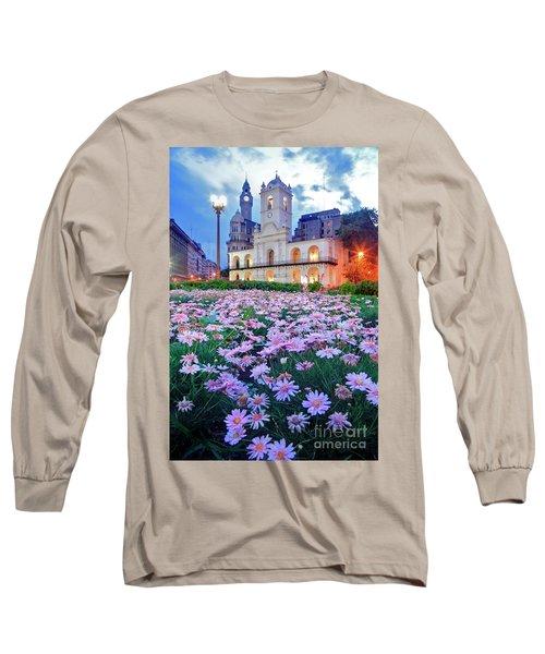Cabildo De Buenos Aires Long Sleeve T-Shirt by Bernardo Galmarini