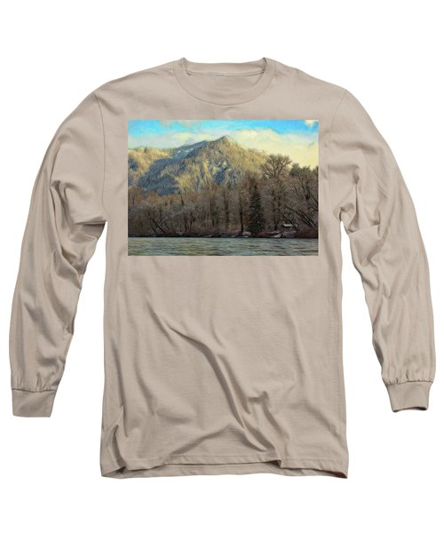 Cabin On The Skagit River Long Sleeve T-Shirt