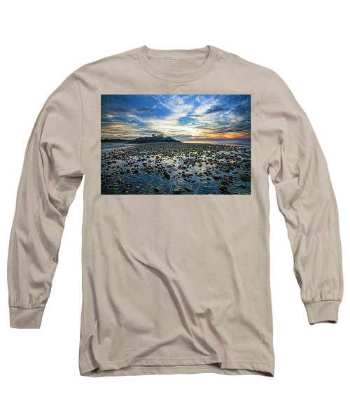 Cable Crossing Orient Point Sunset Long Sleeve T-Shirt