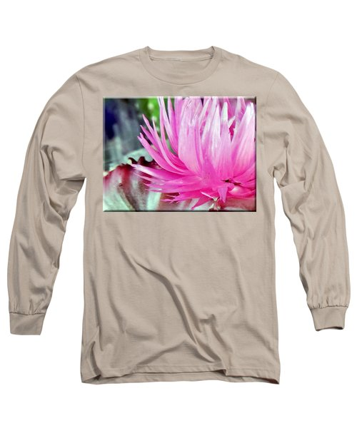 Cactus Flower Long Sleeve T-Shirt by Mikki Cucuzzo