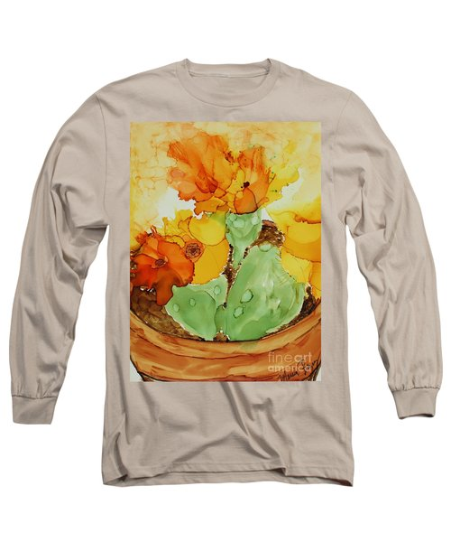 Cactus In A Pot Long Sleeve T-Shirt