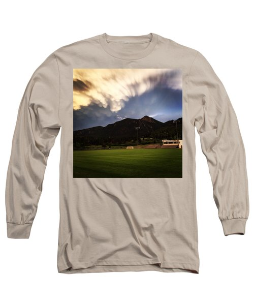 Long Sleeve T-Shirt featuring the photograph Cadet Soccer Stadium by Christin Brodie