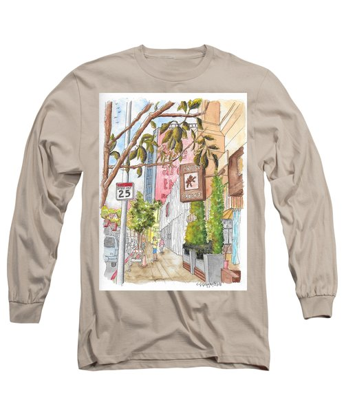 Cafee Primo In Sunset Plaza, West Hollywood, California Long Sleeve T-Shirt by Carlos G Groppa