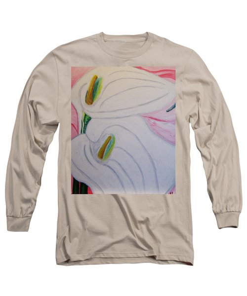 Cala Lillies Long Sleeve T-Shirt by Barbara Yearty
