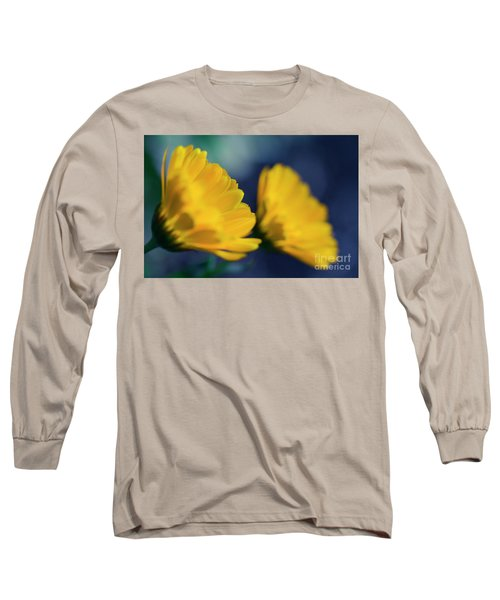 Long Sleeve T-Shirt featuring the photograph Calendula Flowers by Sharon Mau