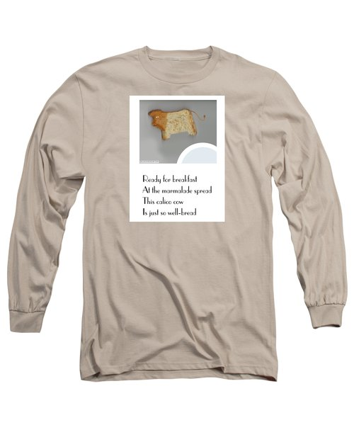 Long Sleeve T-Shirt featuring the digital art Calico Cow by Graham Harrop