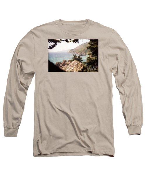 Calif Coast Drive Ocean View Long Sleeve T-Shirt