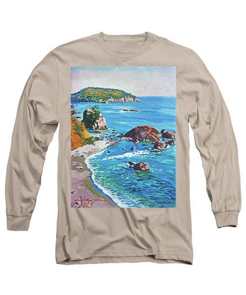 California Coastline Long Sleeve T-Shirt