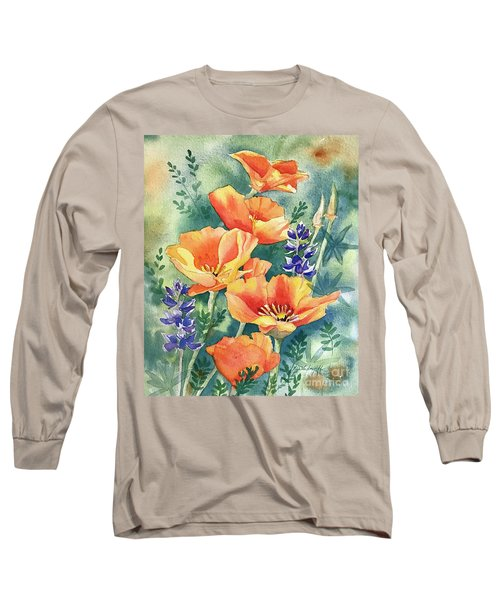 California Poppies In Bloom Long Sleeve T-Shirt