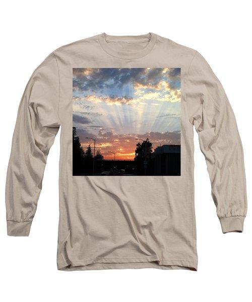 #california #sunset #nature Long Sleeve T-Shirt by Jennifer Beaudet