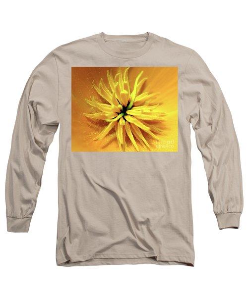Californian Poppy Macro Long Sleeve T-Shirt by Baggieoldboy