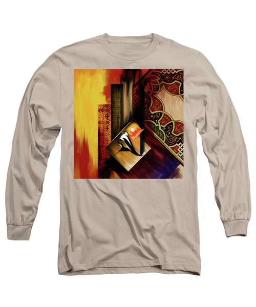 Long Sleeve T-Shirt featuring the painting Calligraphy 102  2 1 by Mawra Tahreem