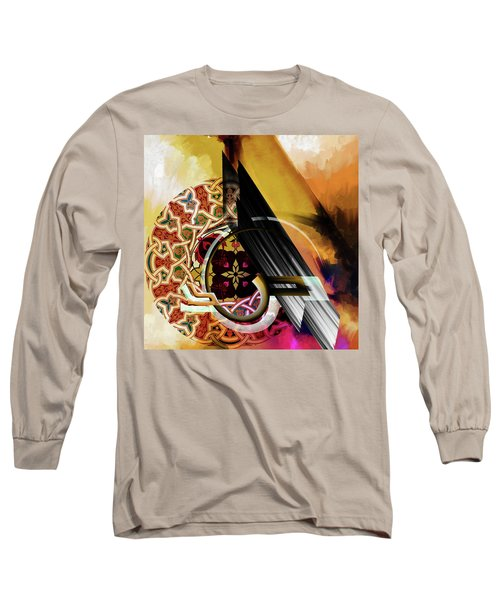 Long Sleeve T-Shirt featuring the painting Calligraphy 103 1 1 by Mawra Tahreem