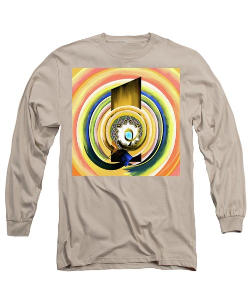 Long Sleeve T-Shirt featuring the painting Calligraphy 104 3 by Mawra Tahreem