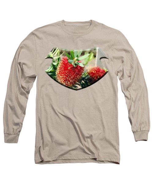 Callistemon - Bottle Brush T-shirt 4 Long Sleeve T-Shirt by Isam Awad