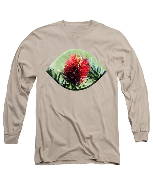 Callistemon - Bottle Brush T-shirt 7 Long Sleeve T-Shirt by Isam Awad
