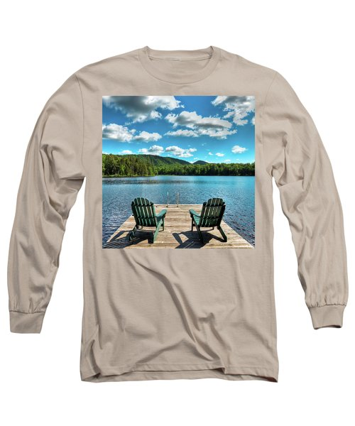 Calm In The Adirondacks Long Sleeve T-Shirt by David Patterson