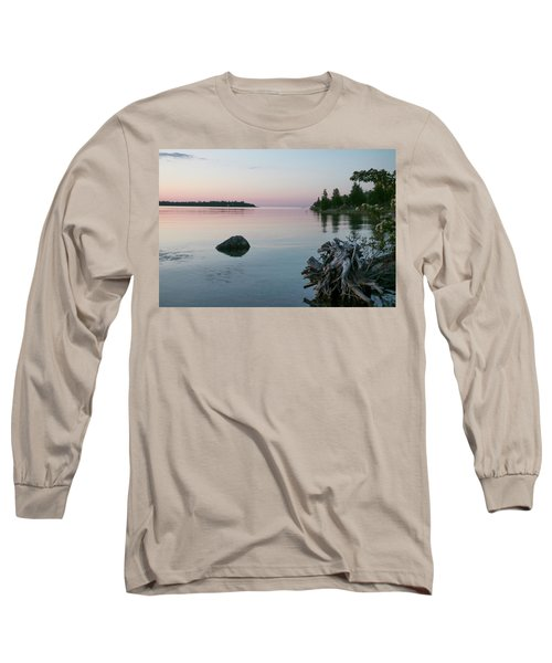 Calm Water At Lake Huron Crystal Point Long Sleeve T-Shirt