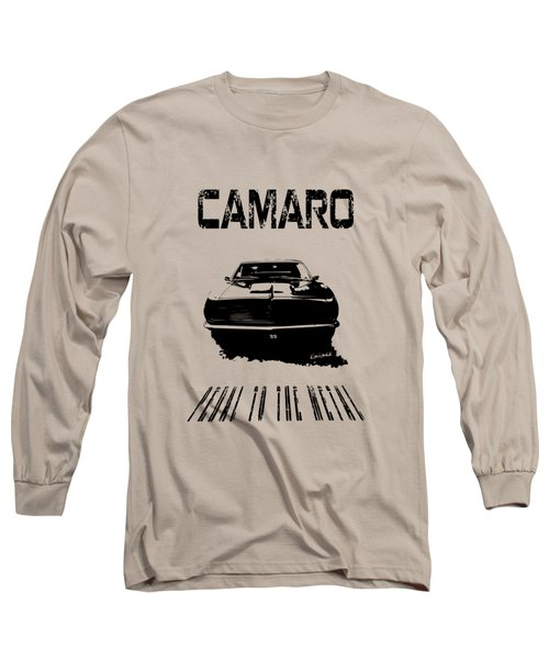 Camaro Ss - Pedal To The Metal Long Sleeve T-Shirt by Kim Gauge