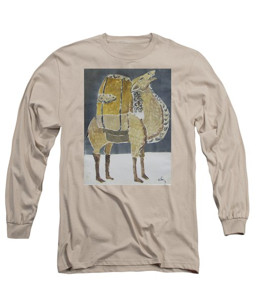 Camel Facing Right Long Sleeve T-Shirt