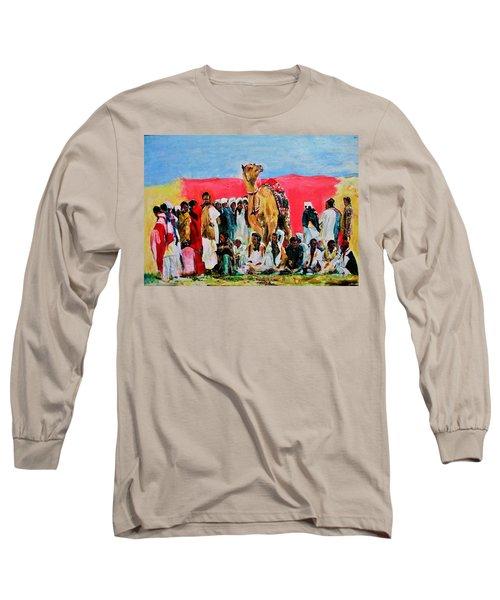 Camel Festival Long Sleeve T-Shirt by Khalid Saeed
