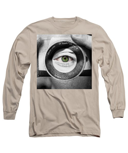 Camera Face Long Sleeve T-Shirt by Semmick Photo