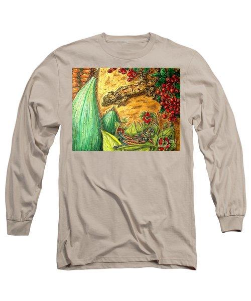 Camouflage...is It Working? Long Sleeve T-Shirt by Kim Jones