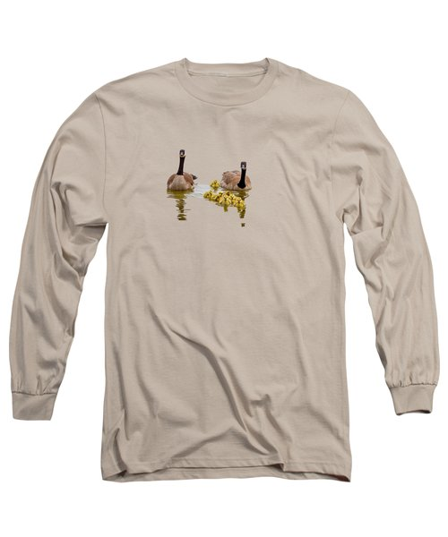 Canadian Geese And Goslings Long Sleeve T-Shirt
