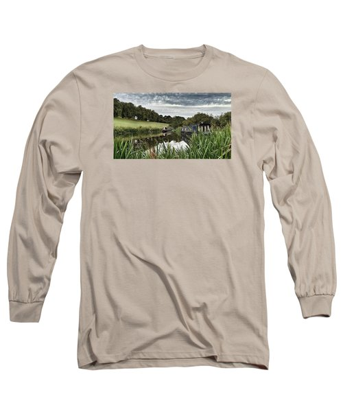 Canal Boats Long Sleeve T-Shirt by RKAB Works