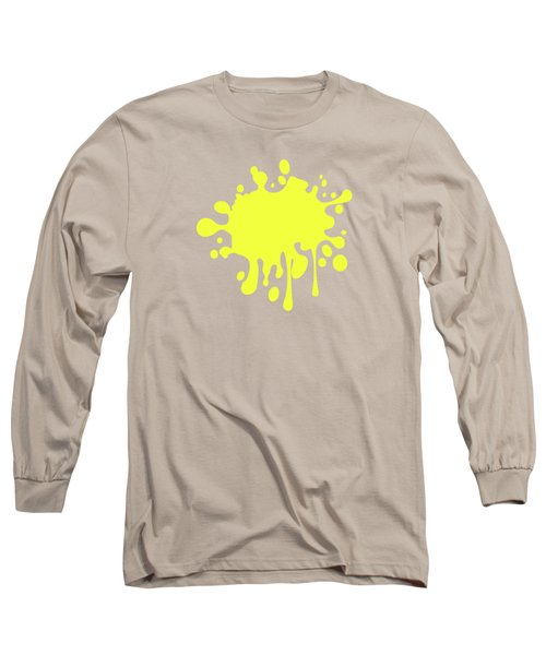 Canary Yellow Solid Color Decor Long Sleeve T-Shirt