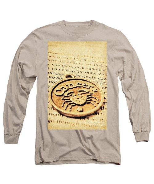 Cancer Star Sign Art Long Sleeve T-Shirt