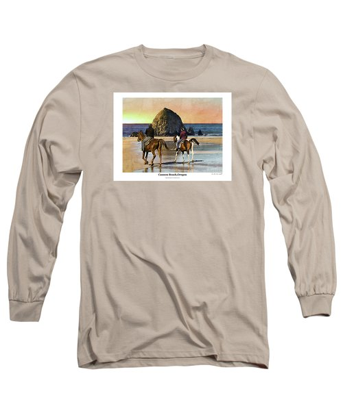 Cannon Beach Long Sleeve T-Shirt by Kenneth De Tore