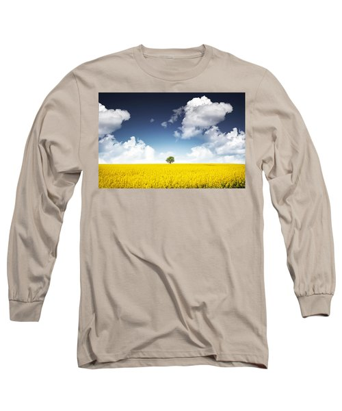 Canola Field Long Sleeve T-Shirt by Bess Hamiti