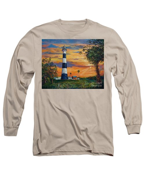 Long Sleeve T-Shirt featuring the painting Cape Canaveral Light by AnnaJo Vahle
