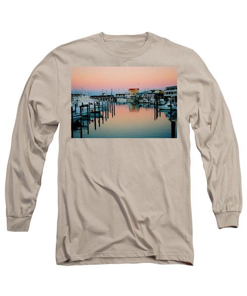 Long Sleeve T-Shirt featuring the photograph Cape May After Glow by Steve Karol