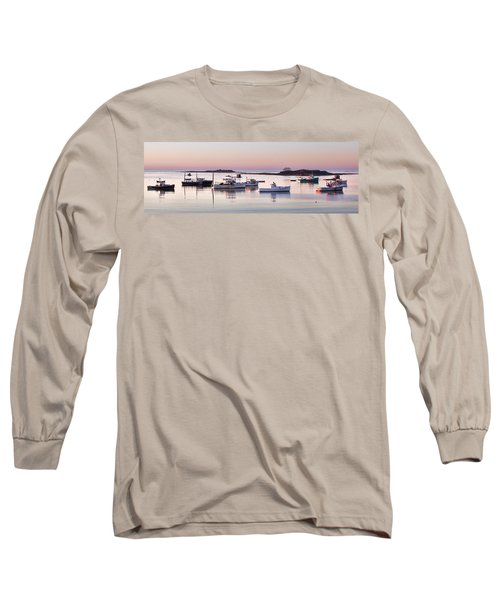 Cape Porpoise Harbor Panorama Long Sleeve T-Shirt