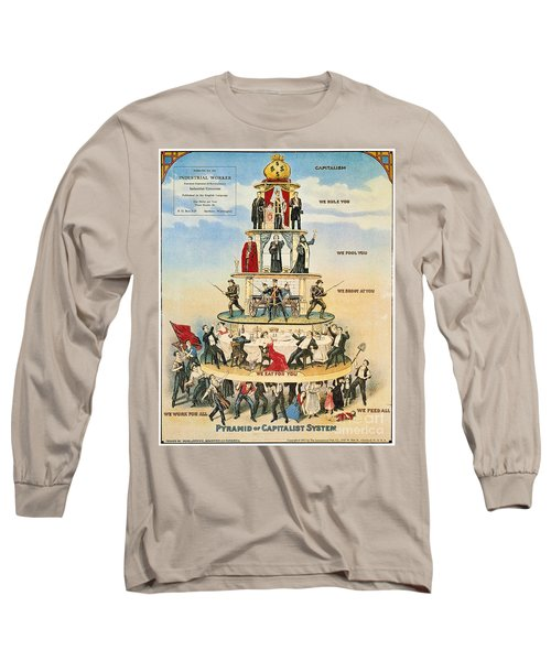 Capitalist Pyramid, 1911 - To License For Professional Use Visit Granger.com Long Sleeve T-Shirt